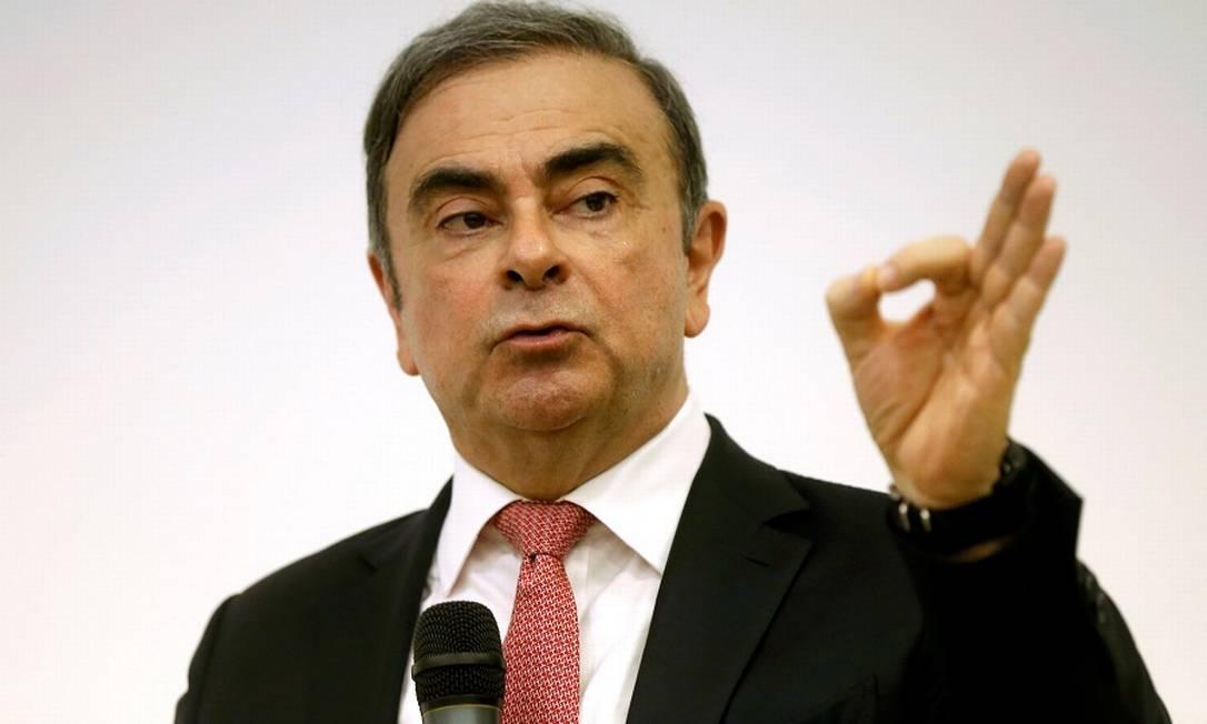 Carlos Ghosn: fortuna encolheu com fuga. Foto: MOHAMED AZAKIR / REUTERS