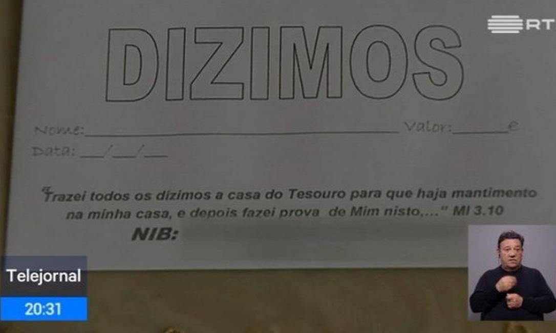Três pastores brasileiros foram presos em Portugal Foto: Reprodução / RTP
