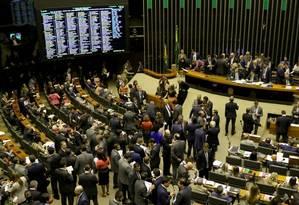 O Plenário da Câmara: deputados, assim como senadores, estão desconfortáveis com recomendação do TCU sobre o uso da cota parlamentar Foto: Wilson Dias / Agência Brasil