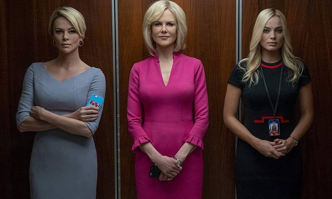 """Charlize Theron, Nicole Kidman e Margot Robbie em cena de """"O escândalo"""" Foto: Reprodução"""