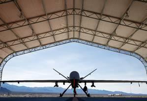 O MQ-9 Reaper fez os disparos que mataram o general iraniano Qasem Soleimani Foto: ISAAC BREKKEN / AFP