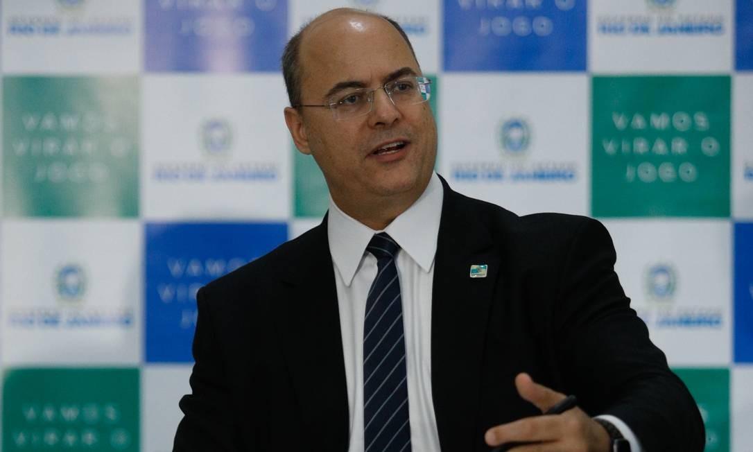 O governador Wilson Witzel Foto: Agência O Globo