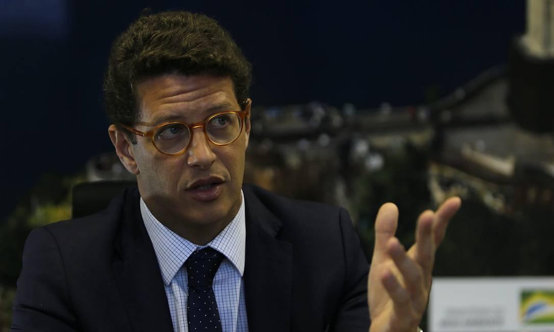 O ministro do Meio Ambiente, Ricardo Salles Foto: Jorge William/27-11-2019