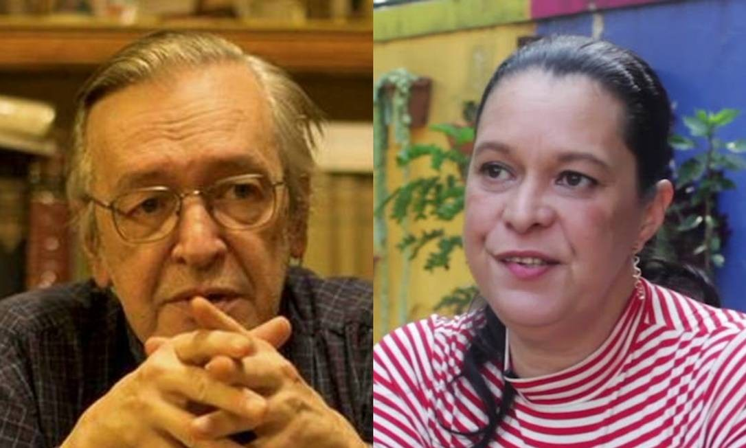 Olavo de Carvalho e sua filha, Heloísa Foto: Divulgação e reprodução/Carta Capital