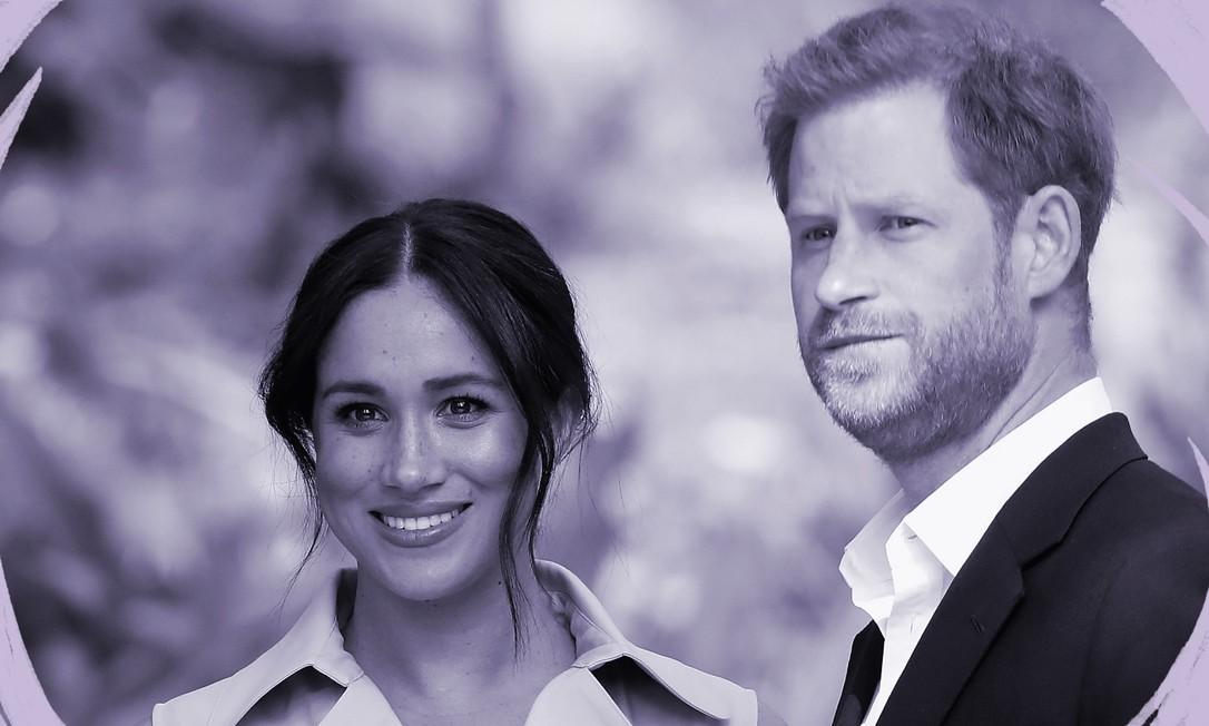 Harry e Meghan Markle anunciaram que vão deixar a condição de membros seniores da família real britânica e se dividirão entre o Canadá e o Reino Unido Foto: Chris Jackson / Getty Images