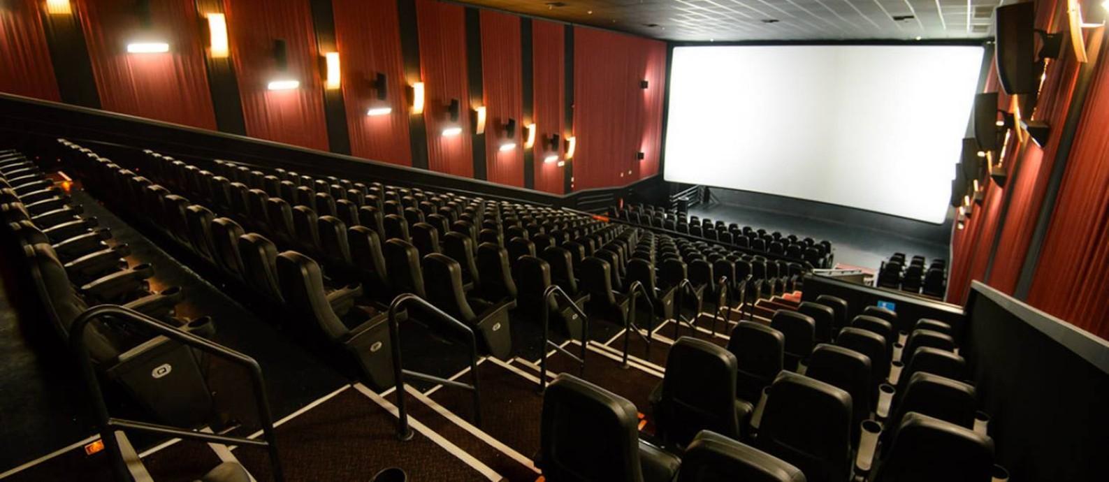 Sala de cinema no Rio: estado ganhou 26 salas desde 2017 Foto: Divulgação