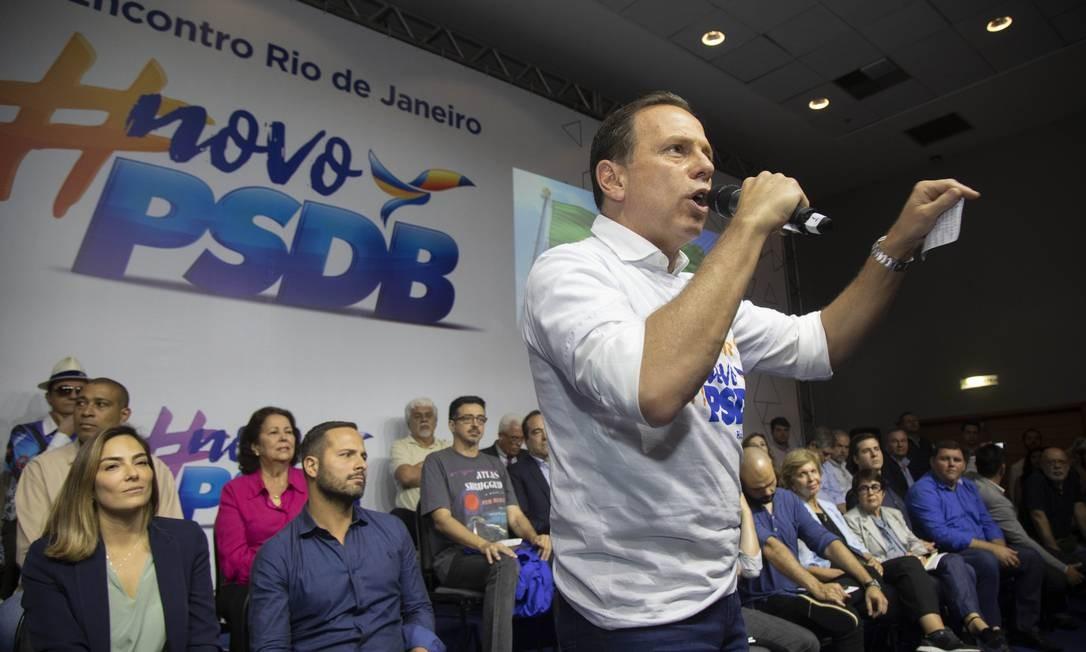 Doria em encontro do PSDB no Rio de Janeiro em setembro do ano passado Foto: Ana Branco / Agência O Globo