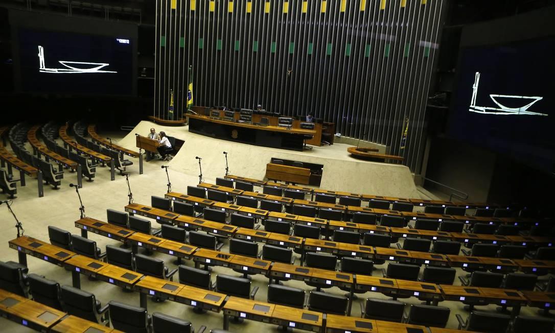 O plenário da Câmara dos Deputados em Brasília Foto: Jorge William / Agência O Globo