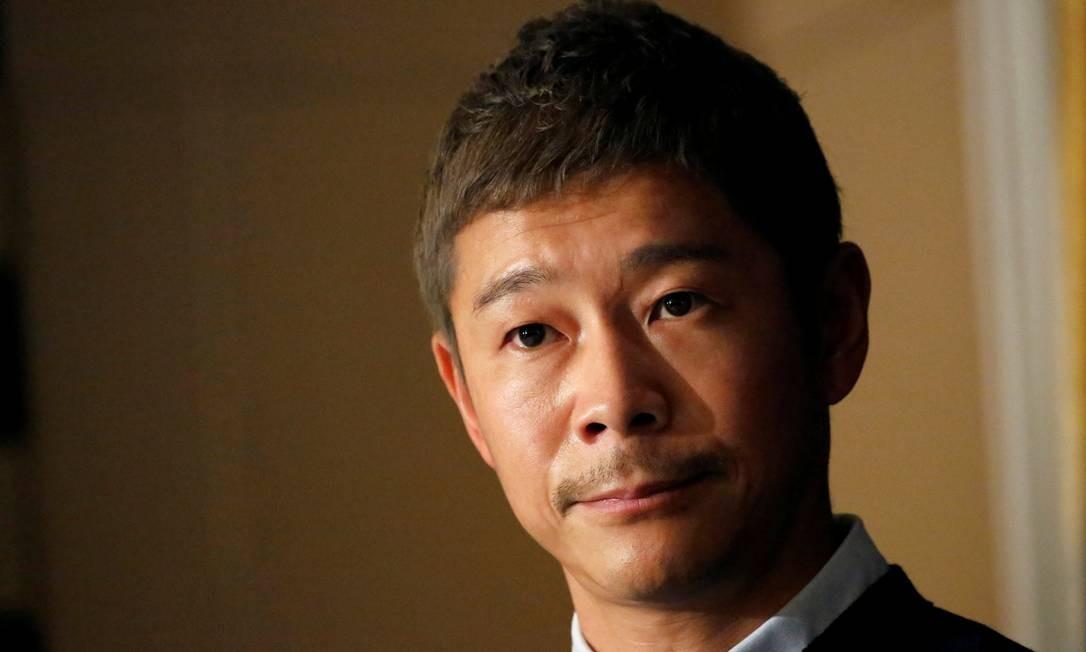 Yusaku Maezawa ganhou fortuna com o site de comércio eletrônico Zozo Foto: Toru Hanai / REUTERS