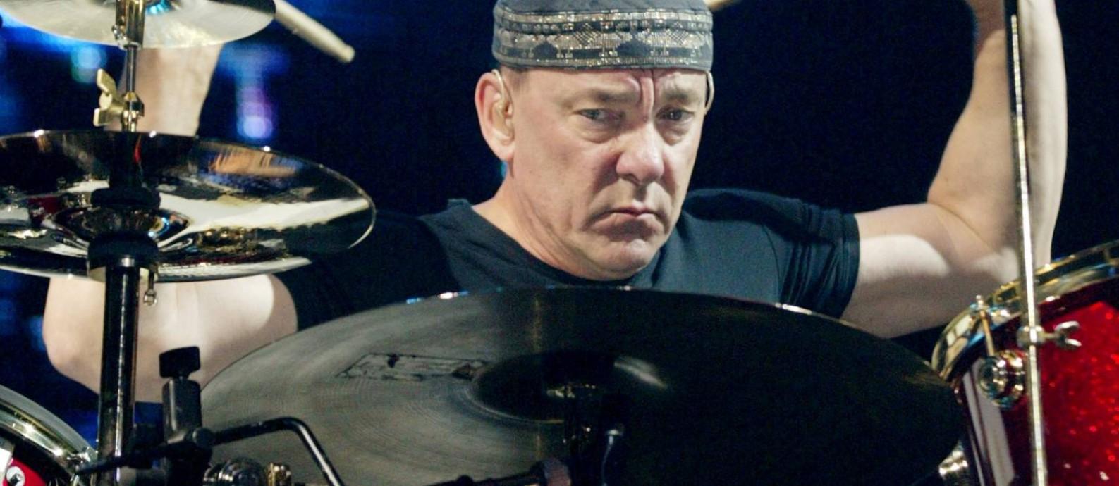 O baterista do Rush, Neil Peart, em show no ano de 2002, na MGM Grand Garden Arena de Las Vegas Foto: Ethan Miller / REUTERS