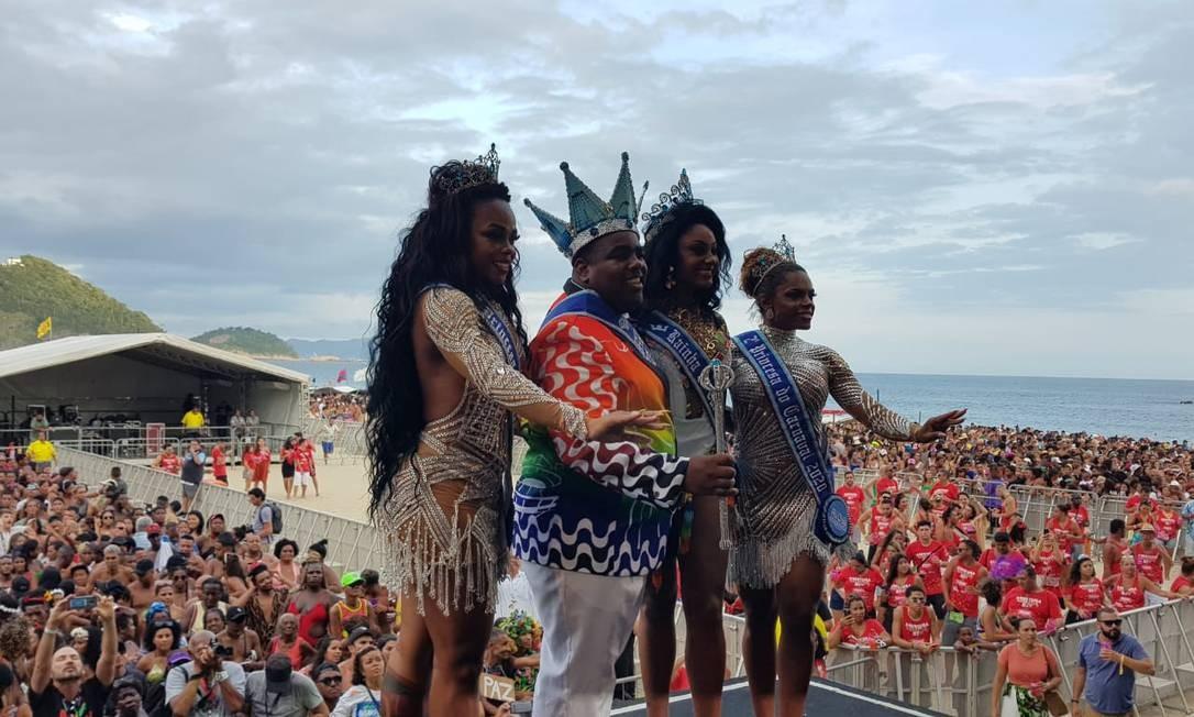 Corte do Carnaval foi escolhida neste domingo na Praia de Copacabana Foto: Camilla Pontes / Agência O Globo