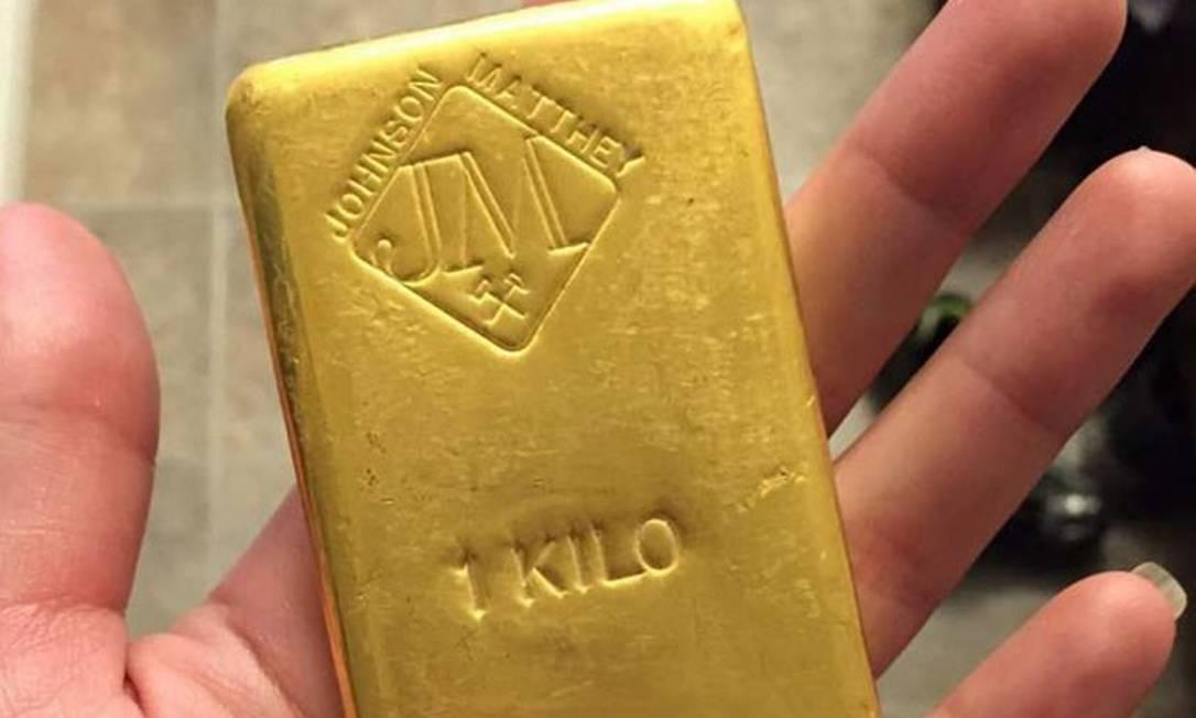 Barra de ouro Foto: .