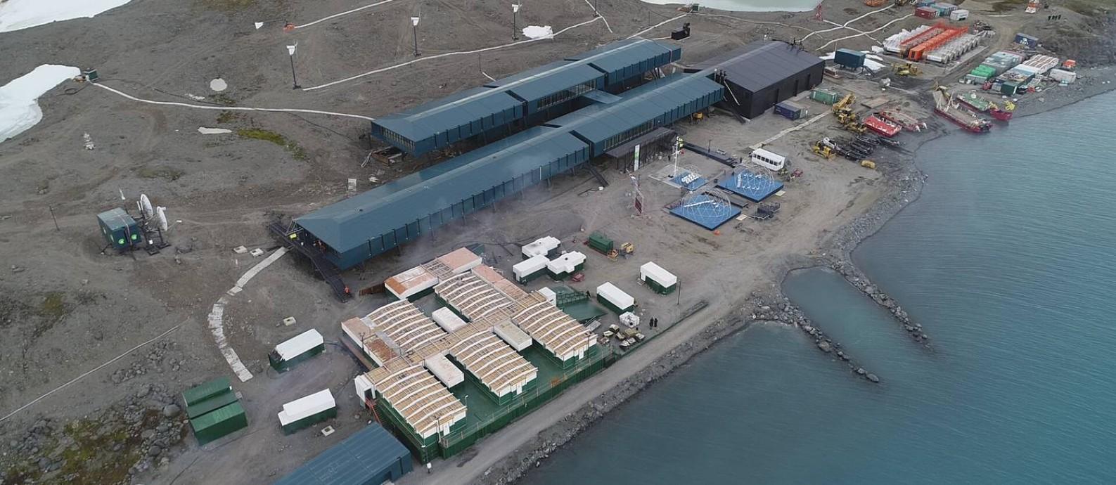 Nova estrutura da Estação Comandante Ferraz tem 17 laboratórios e custou R$ 400 milhões Foto: Elcio Braga / Agência O Globo