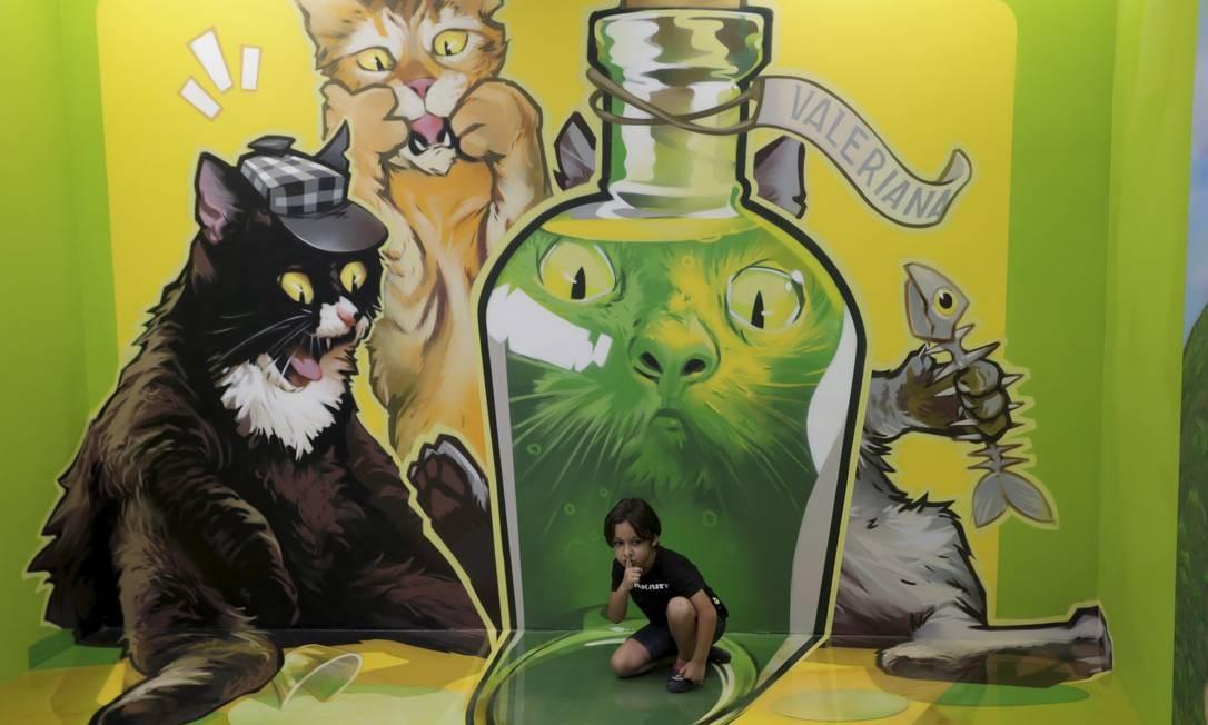 Os visitantes podem tirar fotos nas salas, que ocupam um espaço de 300 metros quadrados Foto: Domingos Peixoto / Agência O Globo
