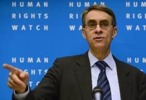 Kenneth Roth, diretor global da Human Rights Watch Foto: AFP