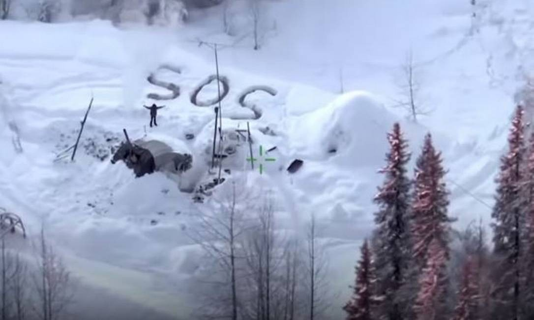 Tyson Steele foi resgatado depois de passar três semanas em uma tenda com pouca comida no Alaska Foto: Reprodução