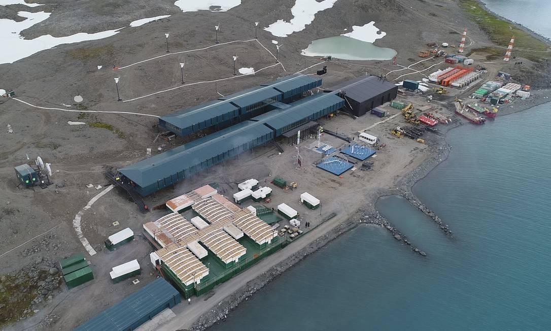 Imagem aérea dos 4,5 mil m² de área construída na Península Keller Foto: Elcio Braga / Agência O Globo