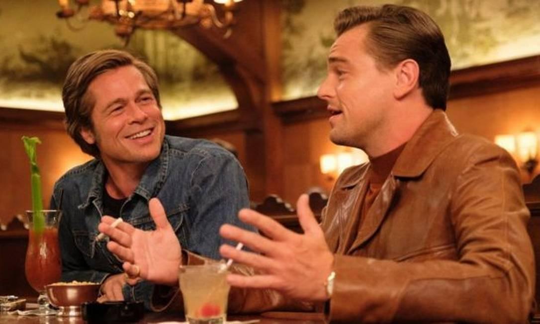 Brad Pitt e Leonardo DiCaprio protagonizam Era Uma Vez em... Hollywood, indicado ao Oscar de melhor filme Foto: Universal