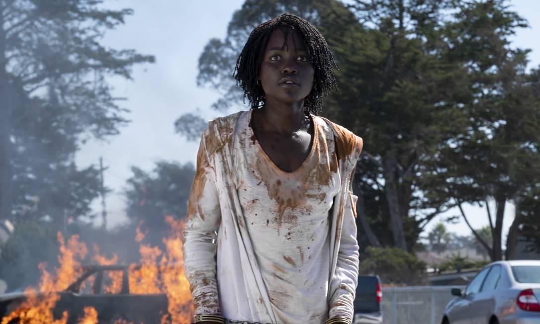 A ausência da atriz Lupita Nyong'o no Oscar, que atuou no filme 'Nós', de Jordan Peele, foi um dos assuntos mais comentados nas redes sociais. 'Nós', aliás, não foi lembrado em nenhuma categoria da premiação. Foto: Divulgação