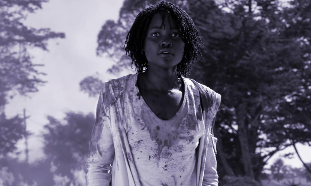 Lupita Nyong'o brilha em 'Nós', filme de terror dirigido por Jordan Peele e esnobado pelo Globo de Ouro Foto: Reprodução
