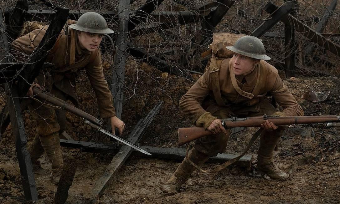 """1917 - Filme de Sam Mendes (""""Beleza Americana""""), acompanha a saga de dois soldados britânicos durante a Primeira Guerra Mundial, em uma missão aparentemente impossível: atravessar um território conflagrado para entregar uma mensagem que poderia salvar outro batalhão à beira da aniquilação Foto: Divulgação"""