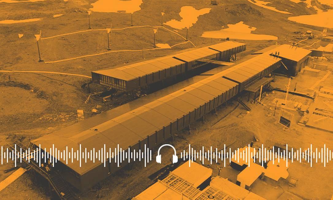 Nova estação brasileira Comandante Ferraz, na Antártica; inauguração corre nesta terça-feira (14) Foto: Arte