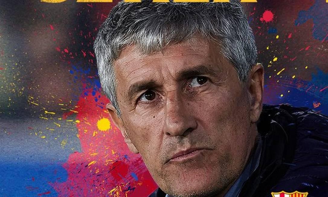 Setién novo técnico do Barcelona Foto: Reprodução