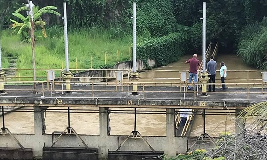 MPRJ realiza fiscalização na estação de Guandu Foto: Divulgação