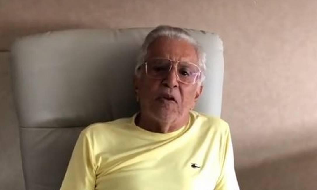 O apresentador, de 83 anos, está internado no Hospital Sírio-Libanês, em São Paulo. Foto: Reprodução/Instagram