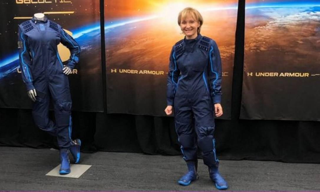 A professora de 61 anos Ketty Maisonrouge comprou a passagem ao espaço há 15 anos, em 2005. Neste ano, finalmente, deve realizar esse sonho Foto: Reprodução