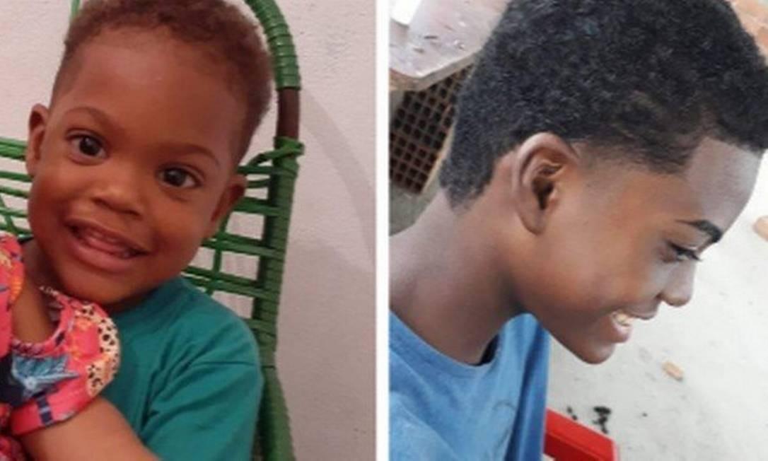 Kaio, de 2 anos, e Kauã, de 14 Foto: Reprodução