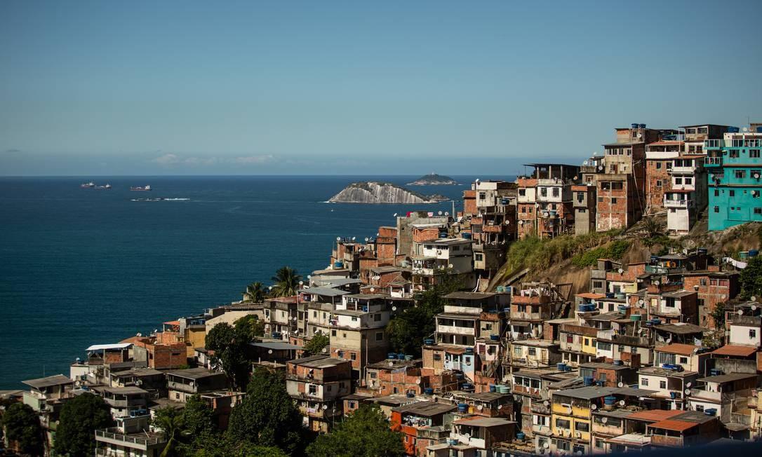 O Vidigal sé uma favela que atrai turistas pela bela vista do mar 07/06/2019 Foto: Brenno Carvalho / Agência O Globo