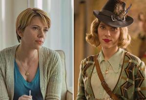 Scarlett Johansson em 'História de um casamento' e em 'Jojo Rabbit' Foto: Divulgação