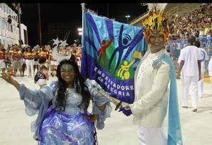 """Lu Rufino, porta-bandeira: """"a gente também quer diversão e arte"""" Foto: Divulgação"""