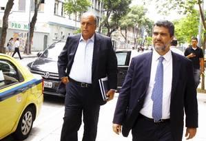 Ex-governador do Rio, Luiz Fernando Pezão chega na Justiça Federal para prestar depoimento Foto: Guilherme Pinto / Agência O Globo