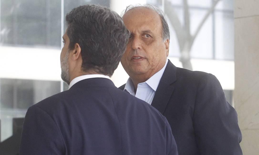 Pezão foi preso em novembro de 2018, quando ainda exercia o cargo de governador do Rio de Janeiro, e solto há pouco mais de um mês, por uma ordem do Superior Tribunal de Justiça (STJ) para que responda o processo em liberdade Foto: Guilherme Pinto / Agência O Globo