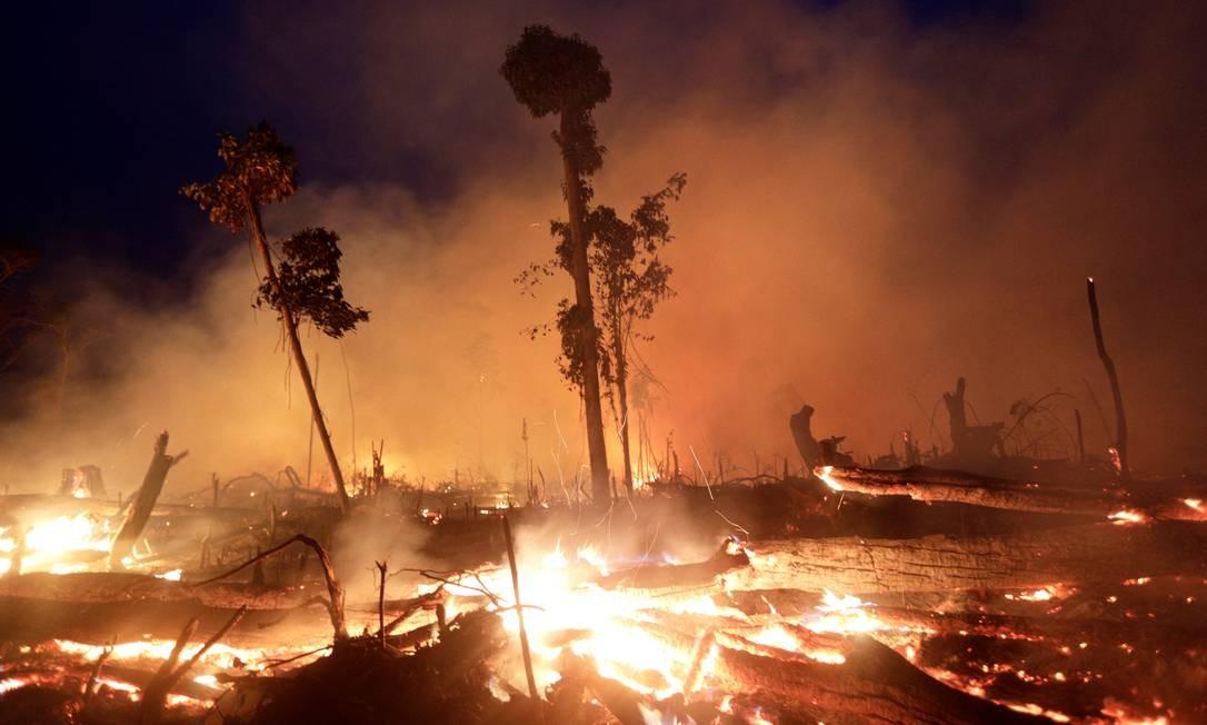 Fogo devasta a Amazônia em Rondônia, em setembro de 2019 Foto: Ricardo Moraes / Reuters