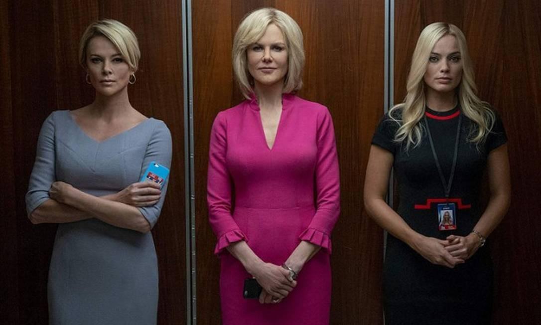 Charlize Theron, Margot Robbie Nicole Kidman no filme O escândalo