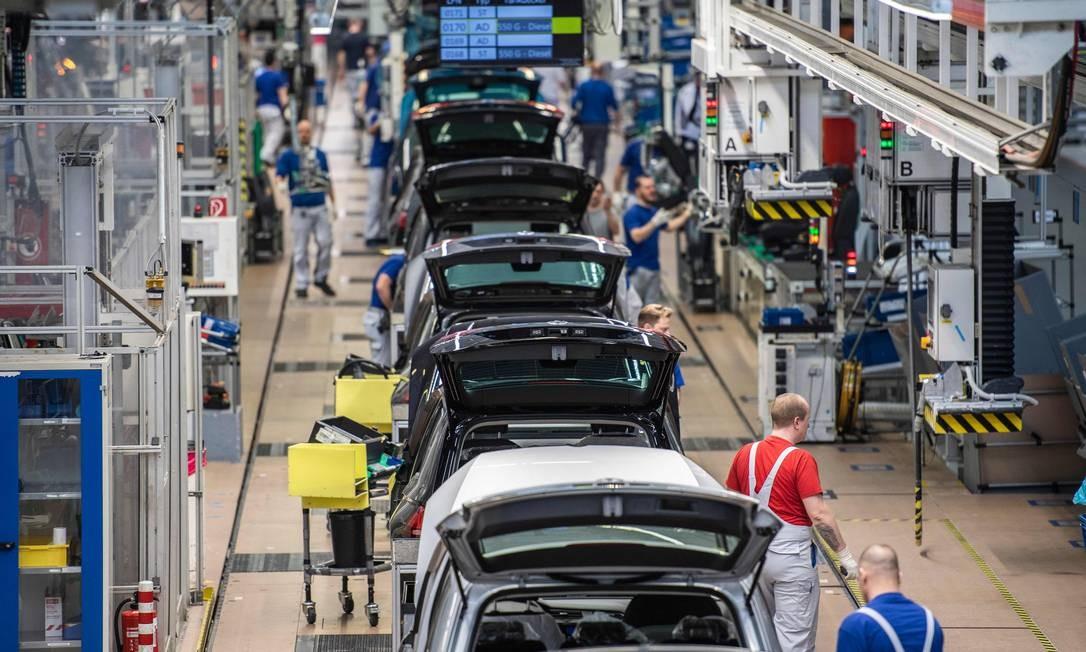 Na Alemanha, produção de veículos é a menor em cerca de 25 anos Foto: JOHN MACDOUGALL/AFP/01-03-2019