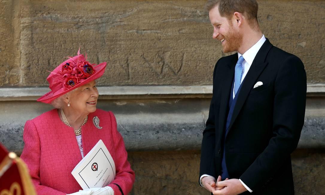 Elizabeth II e Harry, em maio de 2019 Foto: WPA Pool / Getty Images