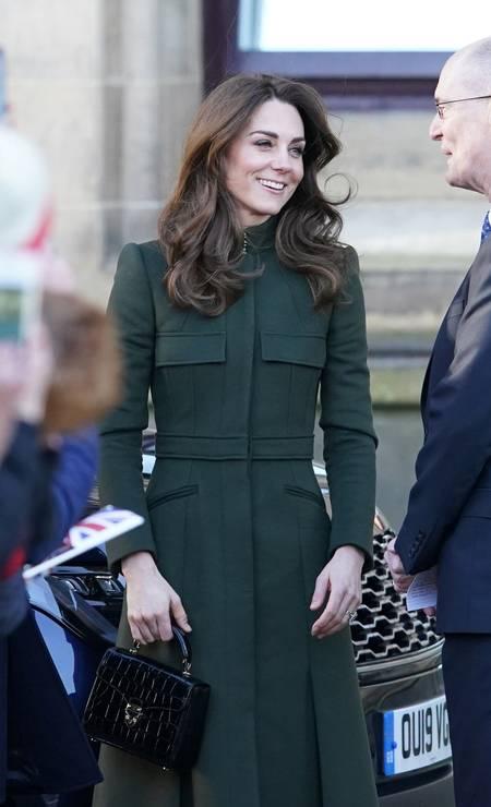 A duquesa vestiu seu estilista favorito: Alexander McQueen Foto: JON SUPER / REUTERS