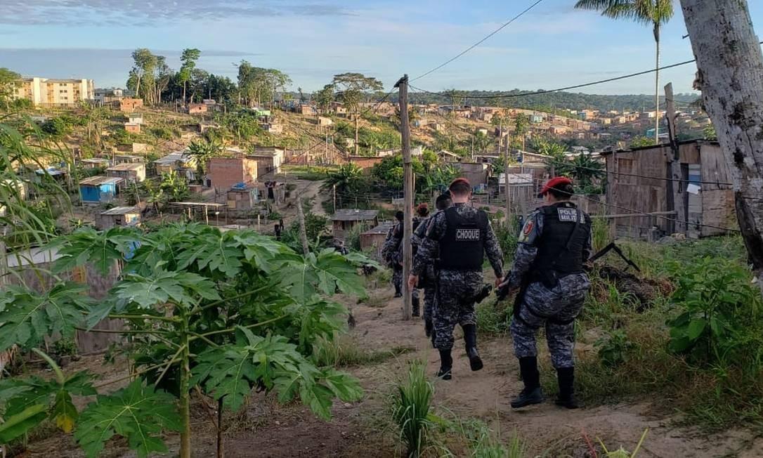 Operação Domínio da Lei, em Manaus Foto: Divulgação