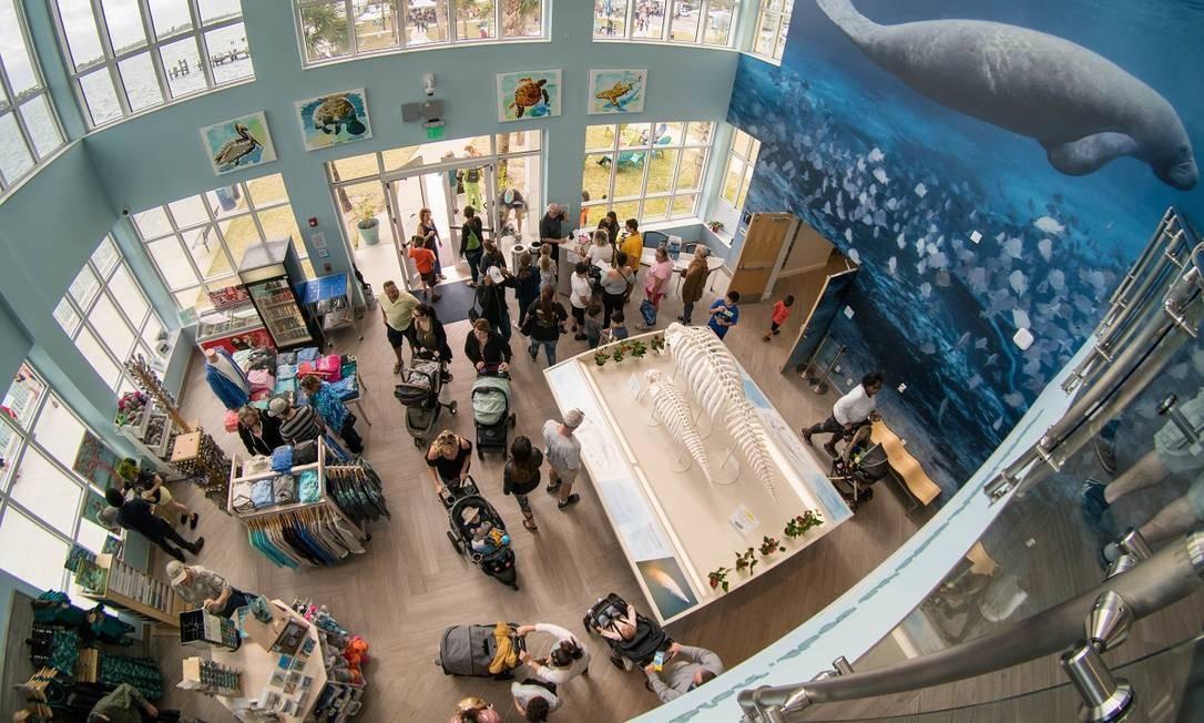 Lojinha do Manatee Lagoon Center, que pesquisa os peixes-bois em Riviera Beach, Flórida Foto: Mark Elias / Divulgação
