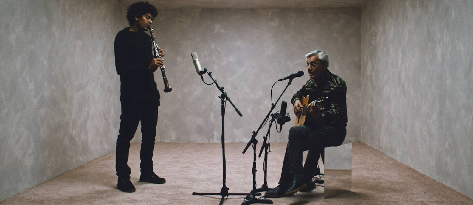 O clarinetista Ivan Sacerdote e o cantor e compositor Caetano Veloso Foto: Divulgação