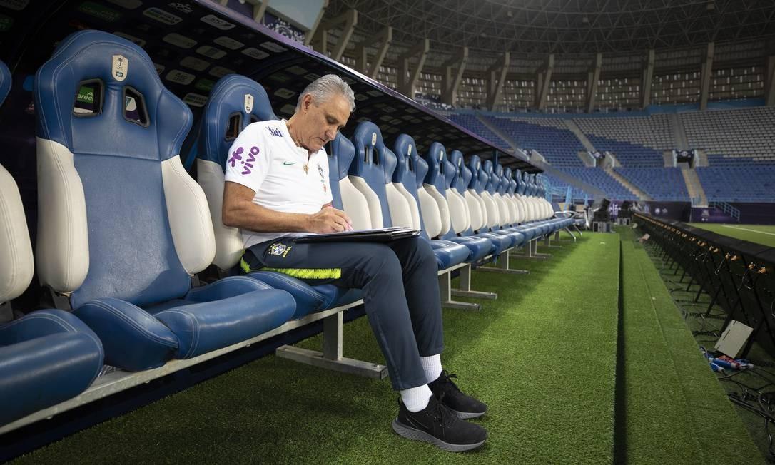 Tite, técnico da seleção Foto: Lucas Figueiredo/CBF