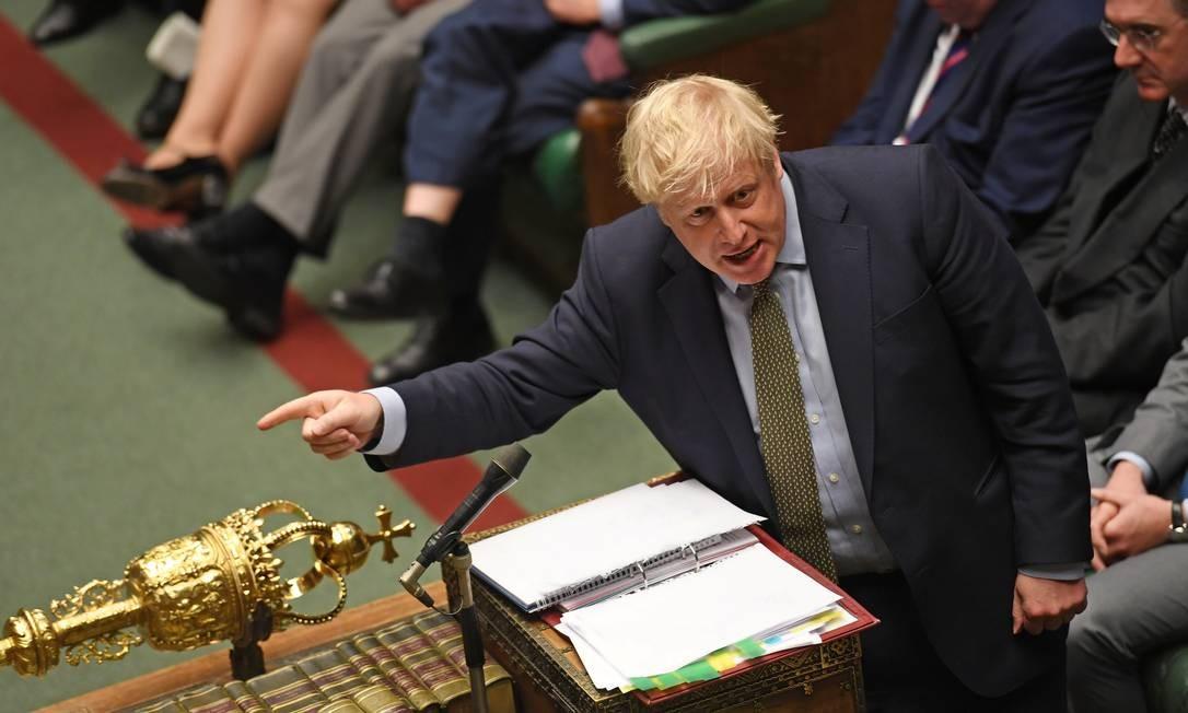 Boris Johnson foi eleito primeiro-ministro em dezembro de 2019 Foto: UK Parliament/JESSICA TAYLOR / via REUTERS
