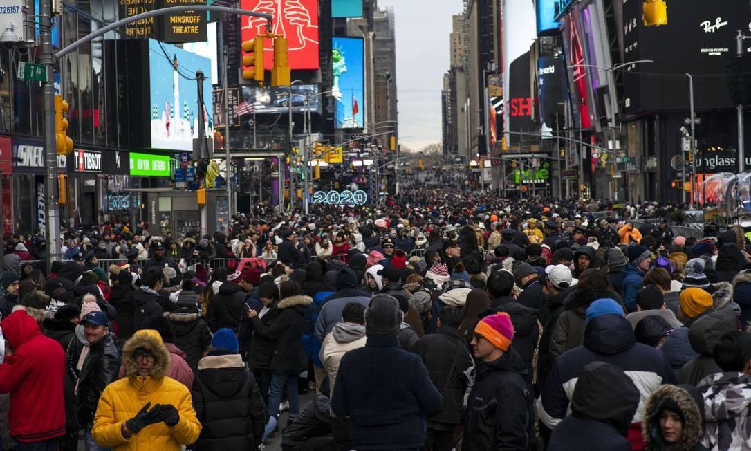 Réveillon na Times Square: peças abordarão extinção do visto para americanos Foto: EDUARDO MUNOZ ALVAREZ / AFP