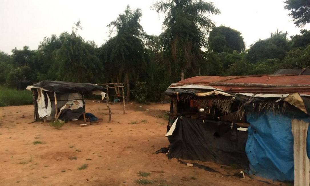 Em acampamento indígena no Mato Grosso do Sul, indígenas pararam de receber cestas básicas em novembro do ano passado Foto: O Globo