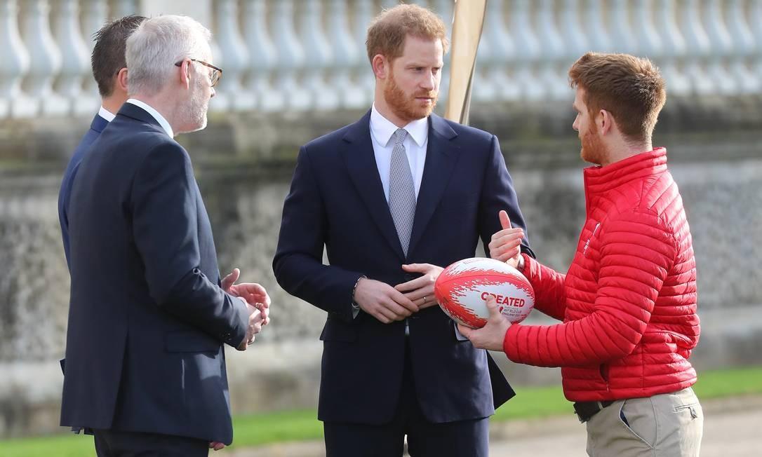 Harry é patrono da Liga de Futebol de Rugby Foto: Chris Jackson / Getty Images