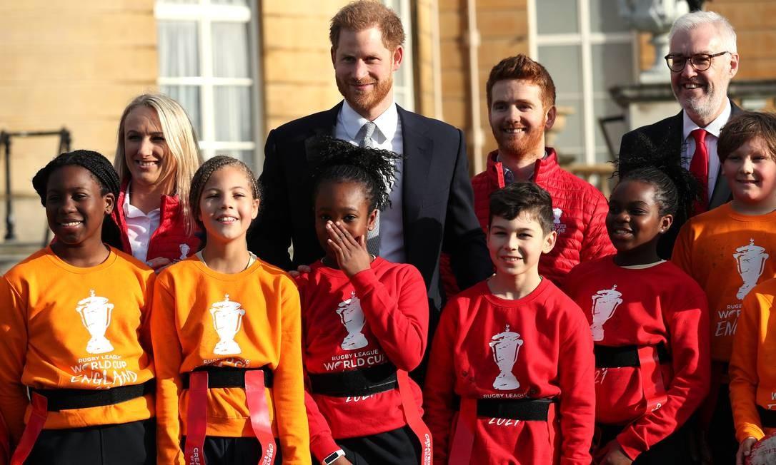 Harry em evento no Palácio de Buckingham Foto: Yui Mok - PA Images / PA Images via Getty Images